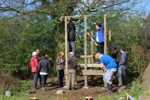 Building the compost toilets